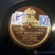 Discos de pizarra: TANGO MILONGA. LOS GAVILANES.. Lote 30320125
