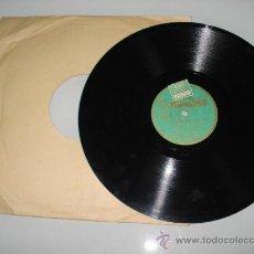 Discos de pizarra: DISCO DE PIZARRA EL DIFUNTO ES UN VIVO Y OTRA HERMANAS ARVEU Y LA ORQUESTA MARICEL .AÑO 1920. Lote 30174943