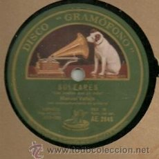Discos de pizarra: MANUEL VALLEJO DISCO DE PIZARRA 78 RPM. DEL SELLO GRAMOFONO . Lote 30608445