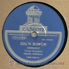 ANGELILLO (FLAMENCO) DISCO DE PIZARRA 78 RPM. DEL SELLO ODEON