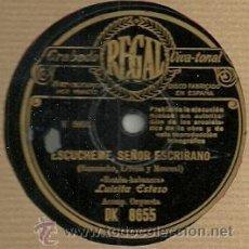 Discos de pizarra: LUISITA ESTESO DISCO DE PIZARRA 78 RPM. DEL SELLO REGAL. Lote 30623304