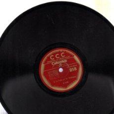 Discos de pizarra: DISCO DE PIZARRA CCC, FRANCÉS, Nº 218. Lote 30624956
