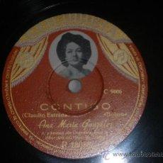 Discos de pizarra: 78 RPM CONTIGO OJOS NEGRO BOLERO SPAIN COLUMBIA PIZARRA. Lote 30657374