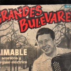 Discos de pizarra: DISCO DE PIZARRA, GRANDES BULEVARES, AIMABLE SU ACORDEÓN Y ÓRGANO ELÉCTRICO. Lote 34380925