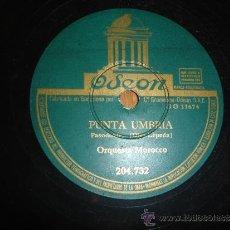 Discos de pizarra: ORQUESTA MOROCO PUNTA UMBRIA PASODOBLE. Lote 30855049