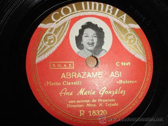 ANA MARIA GONZALEZ ABRAZAME ASI BOLERO (Música - Discos - Pizarra - Solistas Melódicos y Bailables)