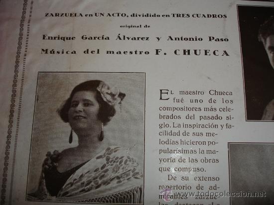 Discos de pizarra: F. CHUECA LA ALEGRIA DE LA HUERTA - Foto 4 - 30855766