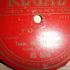 Discos de pizarra: OPERA TOSCA DE PUCCINI TENOR. Lote 30855837