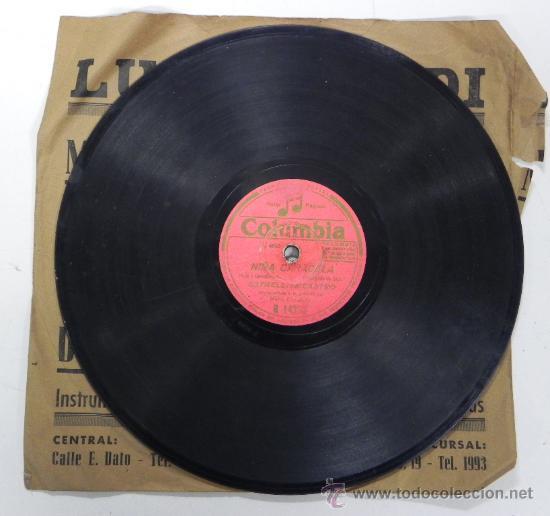 ESTRELLITA CASTRO, NIÑA CARACOLA Y LOS MARISMEÑOS, DISCO PIZARRA 78 RPM. DEL SELLO COLUMBIA, (Música - Discos - Pizarra - Flamenco, Canción española y Cuplé)