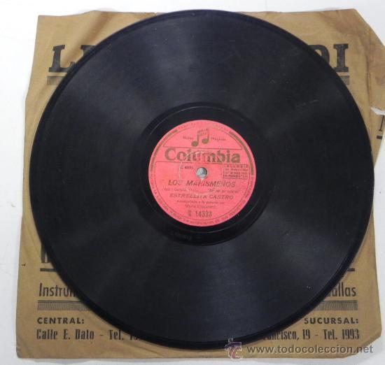 Discos de pizarra: ESTRELLITA CASTRO, NIÑA CARACOLA Y LOS MARISMEÑOS, DISCO PIZARRA 78 RPM. DEL SELLO COLUMBIA, - Foto 3 - 31067679