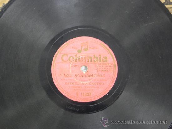 Discos de pizarra: ESTRELLITA CASTRO, NIÑA CARACOLA Y LOS MARISMEÑOS, DISCO PIZARRA 78 RPM. DEL SELLO COLUMBIA, - Foto 4 - 31067679
