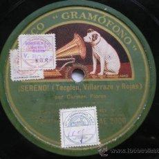 Discos de pizarra: CARMEN FLORES: FRANCISCO / ¡SERENO!. Lote 31181733
