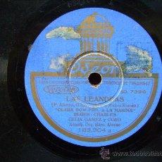 Discos de pizarra: DISCO DE PIZARRA ODEON.LAS LEANDRAS,BLUES-CHARLES.JAVA DE LAS VIUDAS.CELIA GAMEZ Y CORO. Lote 31223398
