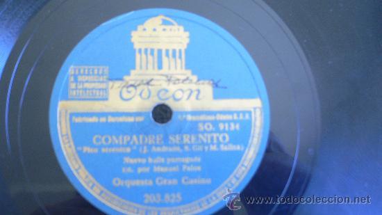 Discos de pizarra: ORQUESTA GRAN CASINO JAZZ ESPAÑOL PIZARRA 78 RPM - Foto 2 - 31318364