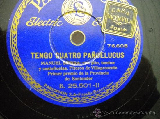 AYER VI QUE SUBIAS-SARA ORTEGA Y MANUEL SIERRA-TENGO CUATRO PAÑELUCUS-MANUEL SIERRA (Música - Discos - Pizarra - Otros estilos)