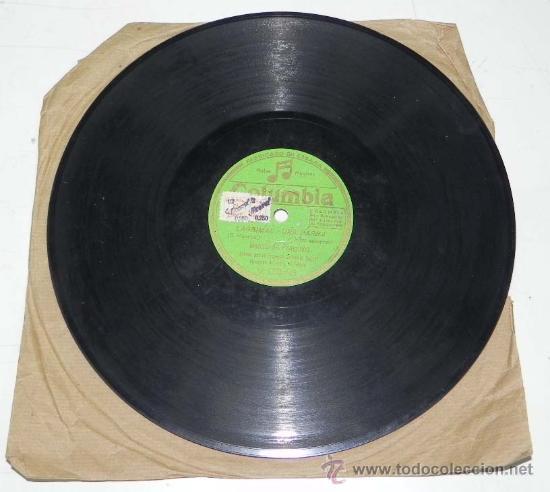 ANTIGUO DISCO DE PIZARRA DE MANUEL DE PAMPLONA, ACOMP. POR LA ORQUESTA COLUMBIA - CALLE, ¡ AY QUE NO (Música - Discos - Pizarra - Flamenco, Canción española y Cuplé)
