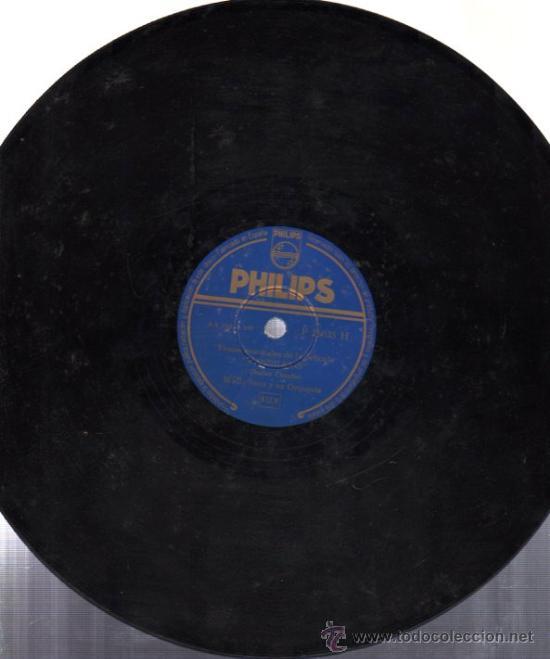 DISCO DE PIZARRA PHILIPS, TEMAS DE LA PELÍCULA CANDILEJAS, WALLY STOTT Y ORQUESTA (Música - Discos - Pizarra - Bandas Sonoras y Actores )