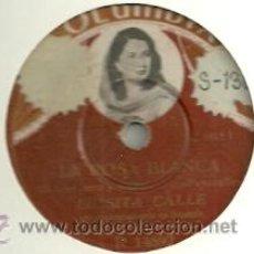 Discos de pizarra: LUISITA CALLE PIZARRA (78 RPM.) SELLO COLUMBIA. Lote 31762584