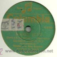 Discos de pizarra: GLORIA FORTUNY PIZARRA (78 RPM.) SELLO COLUMBIA. Lote 31762607
