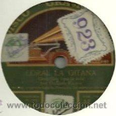 Discos de pizarra: CARMEN FLORES PIZARRA (78 RPM.) SELLO GRAMOFONO. Lote 31773037