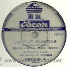 Discos de pizarra: ANGELILLO PIZARRA (78 RPM.) ODEON VICTOR EDITADO EN ARGENTINA. Lote 31773107
