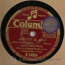 Discos de pizarra: NATI MISTRAL PIZARRA (78 RPM.) SELLO COLUMBIA . Lote 31776046