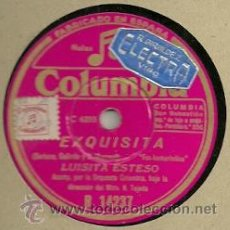 Discos de pizarra: LUISITA ESTESO PIZARRA (78 RPM.) SELLO COLUMBIA . Lote 31776055