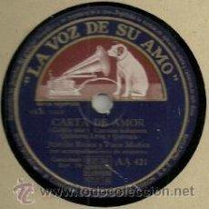 Discos de pizarra: JUANITA REINA PIZARRA (78 RPM.) SELLO LA VOZ DE SU AMO . Lote 31776074