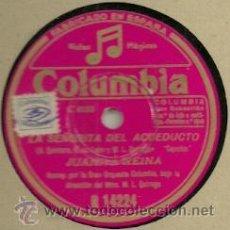 Discos de pizarra: JUANITA REINA PIZARRA (78 RPM.) SELLO COLUMBIA. Lote 31776097