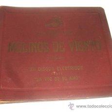 Discos de pizarra: ALBUM DISCOS PIZARRA GRAMOLA, GRAMOFONO. MOLINOS DE VIENTO. ZARZUELA. PABLO LUNA.. Lote 31949360