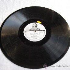 Discos de pizarra: FAROLERO (R. DE LEON Y M.L. QUIROGA) BULERIAS CARMELA MONTES CON ACOMP. DE ORQUESTA. Lote 32096438