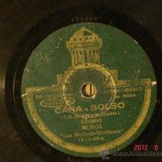 Discos de pizarra: LOS MEDINAS-SEVILLANOS - CARA-BOLSO (SO6284) / EL DOCTOR LOPEZ (SO6229) - ODEON 181.060. Lote 32204054