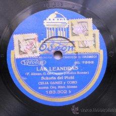 Discos de pizarra: CELIA GAMEZ: LAS LEANDRAS. Lote 32310309