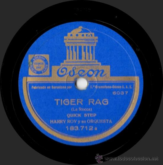 Discos de pizarra: Harry Roy Y Su Orquesta - Tiger Rag / Canadian Capers - Pizarra Odeon 183.712 - España - Foto 2 - 32353765