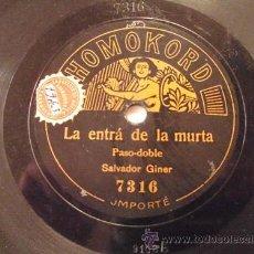 Dischi in gommalacca: LA ENTRÁ DE LA MURTA - SALVADOR GINER. HOMOKORD 7316. SOLO UNA CARA. Lote 32472361