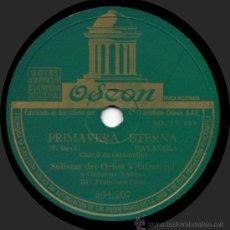 Discos de pizarra: SOLISTAS DEL ORFEÓ VILAFRANQUÍ - PRIMAVERA ETERNA - PIZARRA 10'' ODEON - 204.207 - ESPAÑA 1947. Lote 32478534