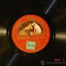 Discos de pizarra: LAWRENCE TIBBETT - LA PALOMA BLANCA (40-159?) / CUANDO TE MIRO (4?-????) - LA VOZ DE SU AMO DA 1102. Lote 32481762