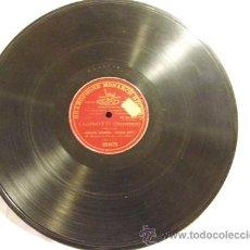 Discos de pizarra: AUGUSTO SCAMPINI Y CECILIA DAVID : DILLE ANCOR - UGONOTTI (MEYERBEER) GRAMOPHONE 054179, MONOFACIAL. Lote 222641797