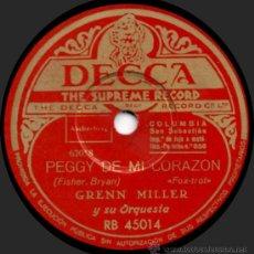 Discos de pizarra: GLENN MILLER Y SU ORQUESTA - LA BAHÍA DE LA LUNA - PIZARRA DECCA RB 45014 - A12-4. Lote 32557076