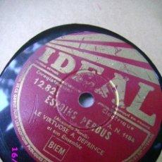 Discos de pizarra: DISCO PIZARRA 78 - CASCADE - ESPOIRS PERDUS - DISCO IDEAL. Lote 32639625
