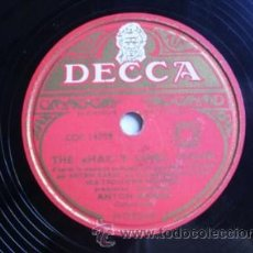 Discos de pizarra: ANTON KARAS : THE CAFÉ MOZART WALTZ; THE HARRY LIME, THEME (LE TROISIEME HOMME) DECCA MG 9235. Lote 32902220