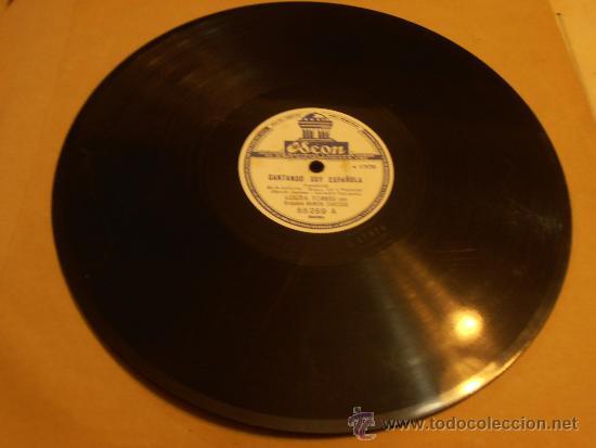 DISCO DE PIZARRA, LOLITA TORRES, CANTANDO SOY ESPAÑOLA (Música - Discos - Pizarra - Flamenco, Canción española y Cuplé)