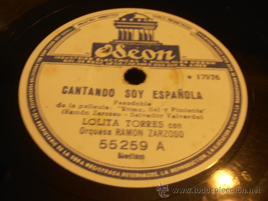 Discos de pizarra: DISCO DE PIZARRA, LOLITA TORRES, CANTANDO SOY ESPAÑOLA - Foto 2 - 32918130