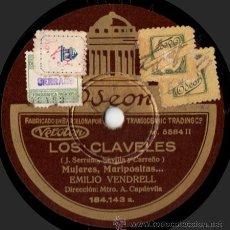 Discos de pizarra: EMILIO VENDRELL Y MATILDE MARTÍN - LOS CLAVELES - PIZARRA 10'' ODEON - 184.143 - ESPAÑA 1931. Lote 32945532