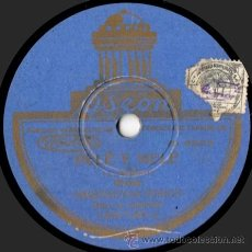Discos de pizarra: ORQUESTINA ODEON - PELÉ Y MELÉ - PIZARRA 10'' ODEON - 183.130 - ESPAÑA 1931. Lote 32946412