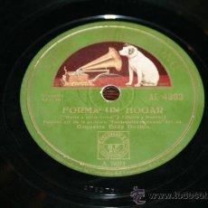 Discos de pizarra: DISCO DE PIZARRA - ORQ. EDDY DUCHIN - BASTA DE AMOR / FORMA UN HOGAR. Lote 33006374