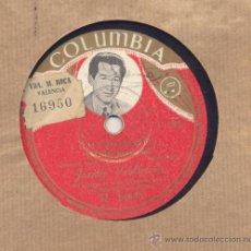 Discos de pizarra: JUANITO VALDERRAMA: CHURUMBEL: MADRE HERMOSA! + COMO UNA HERMANA. Lote 33032614