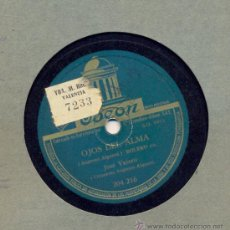 Discos de pizarra: JOSE VALERO CON LA ORQUESTA DE AUGUSTO ALGUERO, OJOS DEL ALMA + DULCE ADORADA. Lote 33059116