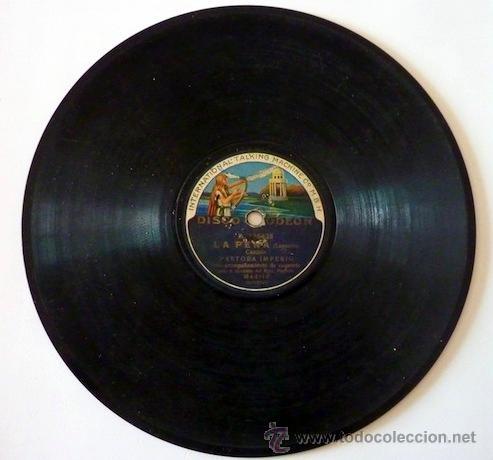 PASTORA IMPERIO. DISCO DE PIZARRA 78 RPM. DISCO ODEON. (Música - Discos - Pizarra - Flamenco, Canción española y Cuplé)