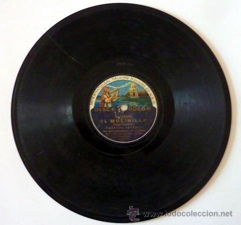 Discos de pizarra: Pastora Imperio. Disco de pizarra 78 RPM. Disco Odeon. - Foto 3 - 33080609